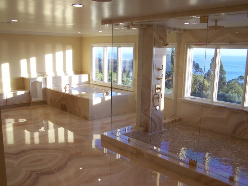 Aranżacje łazienki Duży Prysznic All4u Nieruchomości Porady